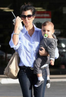 Bleulab Reversible Detour Coated Jeans in Vitriol as seen on Kourtney Kardashian