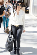 Bleulab Reversible Coated Jeans in Vitriol as seen on Kourtney Kardashian