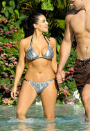 Beach Bunny Swimwear Kim Snake Bikini as seen on Kim Kardashian