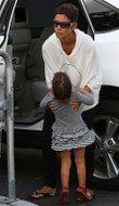Wildfox New Peace Baggy Long Sleeve Tee in White as seen on Halle Berry