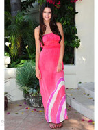 Gypsy 05 Gili Silk Ruffle Tube Dress as seen on Kendall Jenner Kardashian