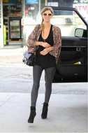 Tolani Shireen Cardigan in Brown Mini Floral as seen on Nicky Hilton