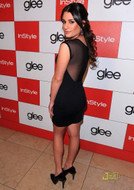 David Lerner Mesh Tank Dress in Black as seen on Lea Michele
