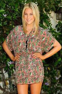 Tolani Anna Tunic in Peach/Pink Paisley as seen on Stephanie Pratt and Nicky Hilton