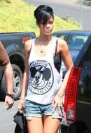 Brian Lichtenberg Tank Top Lichty's (Mickey tank) in White as seen on Rihanna