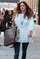 Wildfox New Peace Baggy Long Sleeve Tee in White as seen on Alessandra Ambrosio