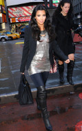 LNA Olivia leggings in Black Licorice as seen on Kim Kardashian