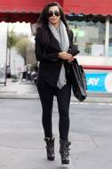 LNA Olivia leggings in Flat Black as seen on Kim Kardashian