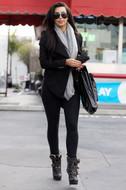 LNA Olivia leggings in Flat Black as seen on Kim Kardashian