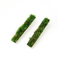 Isabel Englebert + Plant the Future Silver Earrings - Moss Rectangle