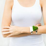 Isabel Englebert + Plant the Future Silver Cuff - Moss Trapezoid