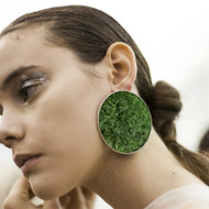 Isabel Englebert + Plant the Future Silver Earrings - Moss Circle