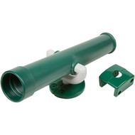 Toy telescope swing set accessory Green.