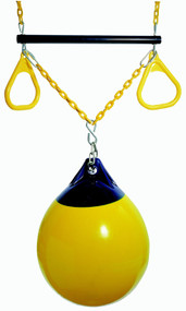 Trapeze buoy add on swing set yellow.