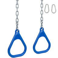 Trapeze rings with chains blue.