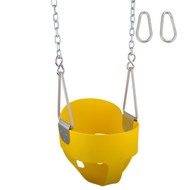 Swing Set Stuff Inc. Highback Full Bucket Swing with Chains and Hooks Fun Toy Green Blue Yellow Red and Pink