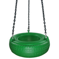 Swing Set Stuff Inc. Plastic Tire with Coated Chain Outdoor Plastic Green Blue Yellow Red Pink and Black