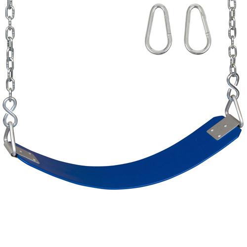 Commercial Rubber Belt Seats Blue.