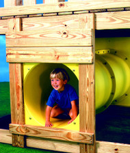Playset tunnel yellow.