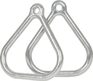 Playground metal trapeze rings Aluminum.