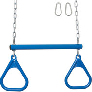 Trapeze bar with rings blue.
