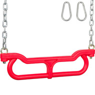 Red Trapeze Combo with Chains for Swing Set.