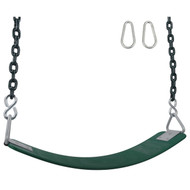 Swing Set Stuff Inc. Commercial Polymer Belt Seat with 5.5ft coated chain Kids Fun Green Blue Yellow Red and Pink