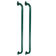 Large Long Green Steel Handle (Pair) Durable Outdoor