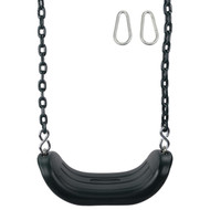 Comfort Swing Seat with 5.5ft coated chain Sturdy Durable Green