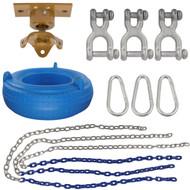 Swing Set Stuff Inc. Complete Tire Swing Kit with Heavy Duty Swivel and SSS Logo Sticker