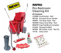 Pro Restroom Daily Cleaning Kit, w/Flat Mop