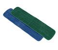 "Microfiber Looped Wet Flat Mop, Blue, 18"""
