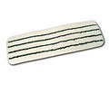 """Microfiber Flat Wet Mop with Scrubber Strips, White/Green, 18"""""""