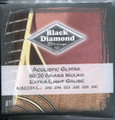 Black Diamond 80/20 Guitar Strings, Extra Light