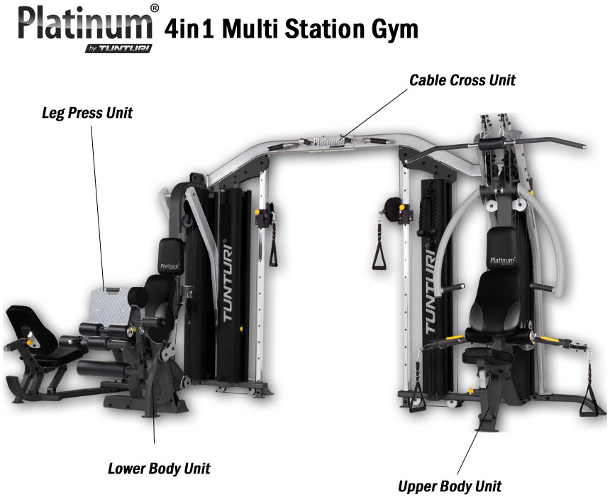 Tunturi Complete 4 in 1 Gym Equipment