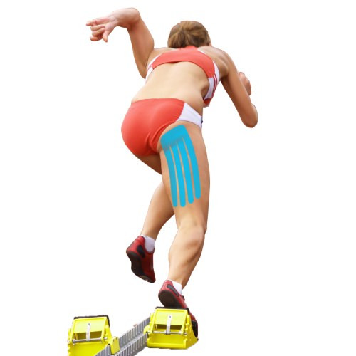 Kinesiology Tape Pre-Cut Hamstring Support