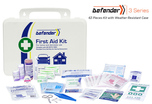 Defender 3 - 63 Piece Kit - Weather Resistant Case