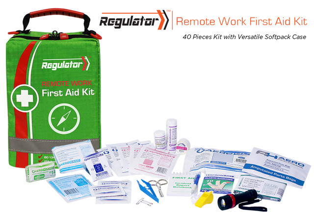 Remote Work First Aid Kit - 40 Piece Kit - Versatile Softpack
