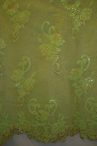 Organza & Net with Sequins - FL49 Light Green