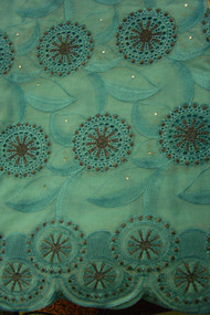 Premium Voile Lace on Metallic Yarn with Stone - PVL77C