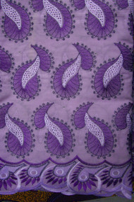 Premium Voile Lace on Metallic Yarn with Stone - PVL78