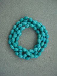 One Meter Necklace Blue Natural Stone