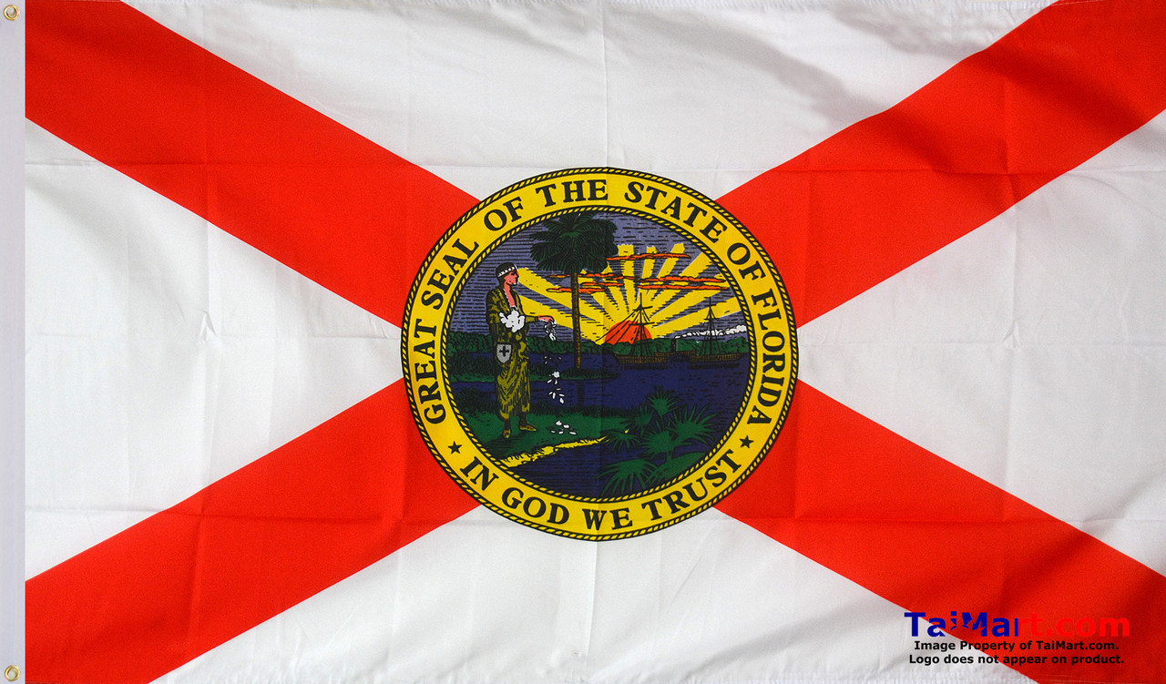 Florida Official State Usa American Flag 3x5 Polyester