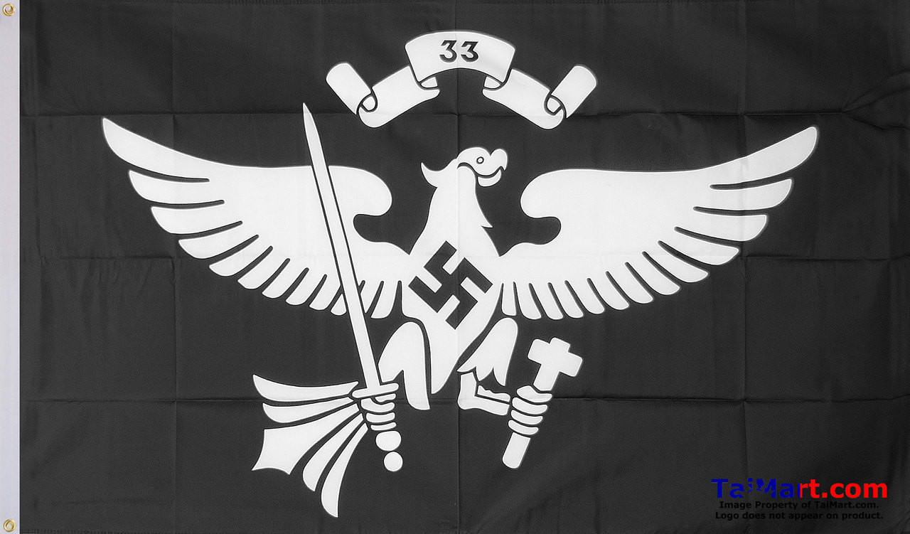 Nazi Hitler Youth 33rd Troop Flag 3x5' 90x150cm 100% Polyester