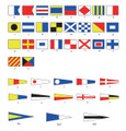 """Nautical Flag Bunting 100% Polyester 12.6m long, 40 x 9x12.6"""" Flags"""