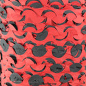 "Red/Black ""Devil"" Camo Netting - Pattern Closeup"