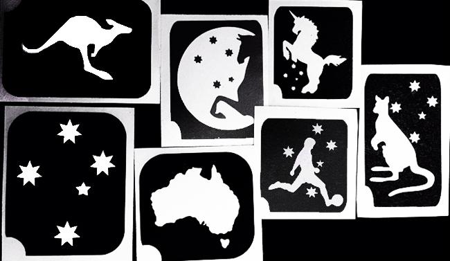 Henna Tattoo Supplies Brisbane: Australia Day Stencils