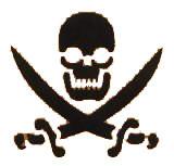 Skull and Swords Stencil by Amerikan Body Art