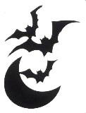 Bats and Moon Stencil