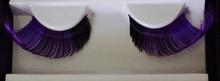 Long curly Purple and Black Eyelashes